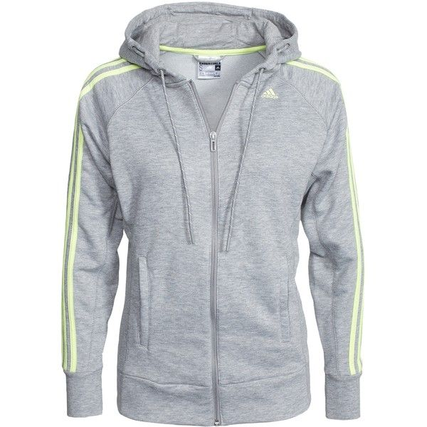 Adidas Sport Performance Ess The Hoody (255 BRL) ❤ liked on Polyvore featuring 0 roupas, casacos, grey, jumpers & cardigans, sports fashion, womens-fashion and adidas