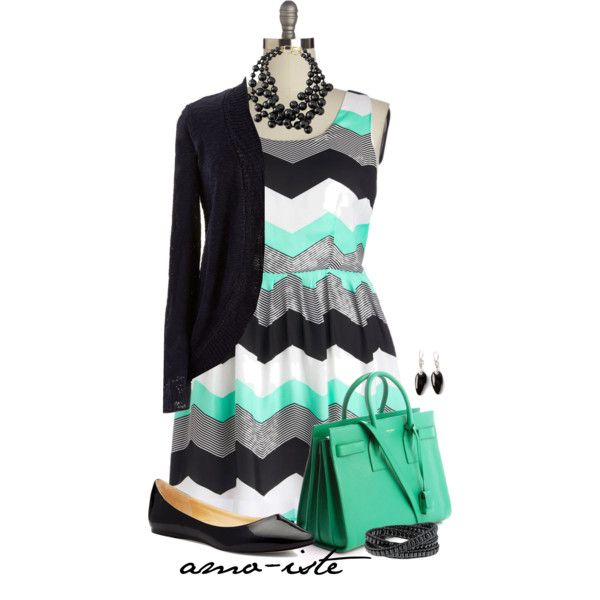 Black & Mint - Plus Size, created by amo-iste on Polyvore