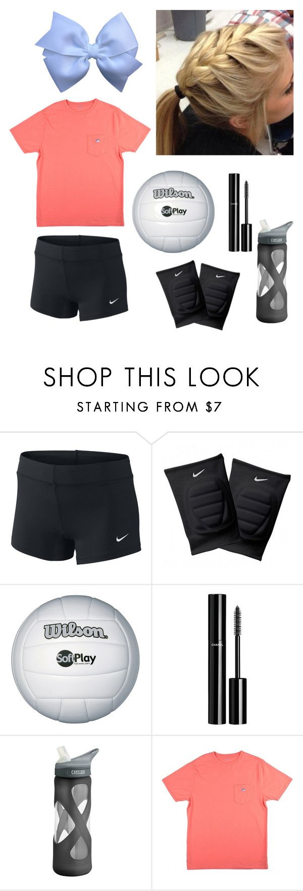 """""""volleyball practice"""" by lilypadh ❤ liked on Polyvore featuring NIKE, Chanel, CamelBak and Southern Tide"""