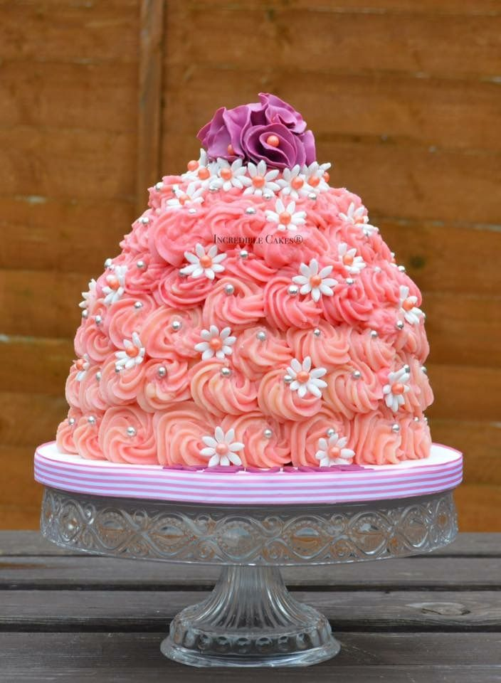 how to make rose swirl cake
