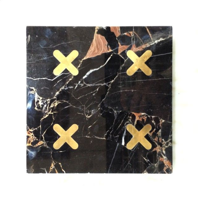 #Marble with #brass inlay by #kreoo. #ducalecollection #tile #icff2015 #nycxdesign #kreoodesign