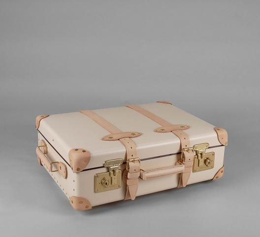 "SAFARI Ivory & Natural - 21"" TROLLEY CASE by Globe Trotter in England"