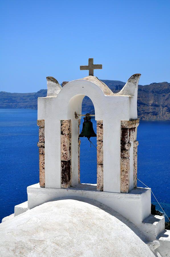 santorini posters | Chapel In Santorini Island. Photograph