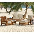 Teak Seating Outdoor Patio Furniture Set - 7 pc.