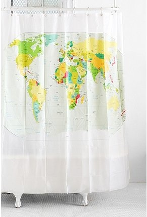 93 best world map images on pinterest world maps globes and maps world map shower curtain gumiabroncs Images