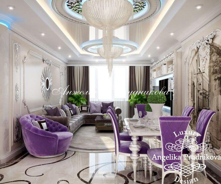 Дизайн проект интерьера гостиной в квартире в центре Москвы - фото