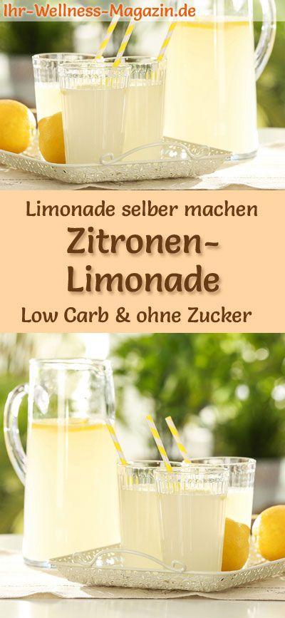 Zitronenlimonade selber machen – Low Carb & ohne Zucker – Sommer-Getränke – Rezepte