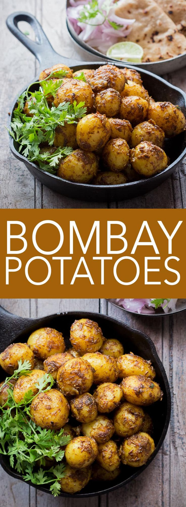 Bombay Potatoes are simply chatpate masala aloo. Coated with spices and ready in under 15 minutes, they double up as appetizer and main course.
