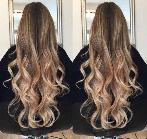 светлые волосы, коричневый, кудри, девушка, волосы, омбре, волны