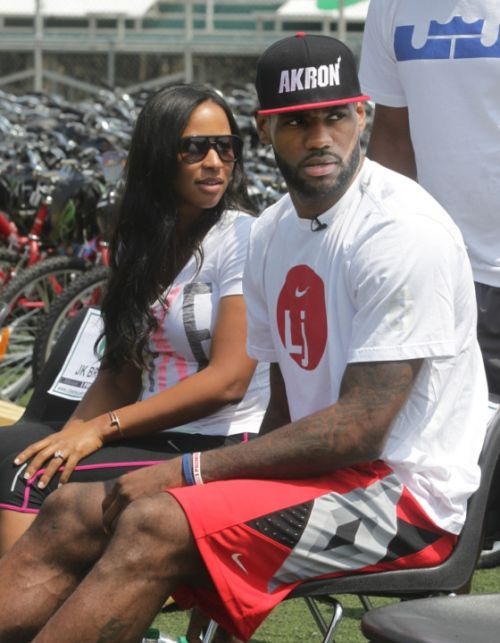 s | Savannah Brinson and LeBron James at the LeBron James Family ...