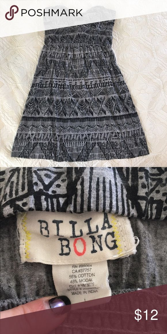 Strapless pattern mini dress Sundress with Aztec pattern. Worn a couple of times. Can bundle! Billabong Dresses Mini