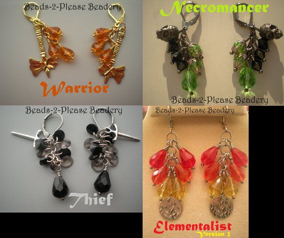 Guild Wars 2 Inspired Earrings