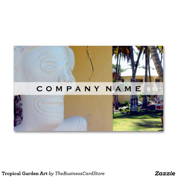 Tropical Garden Art Business Card