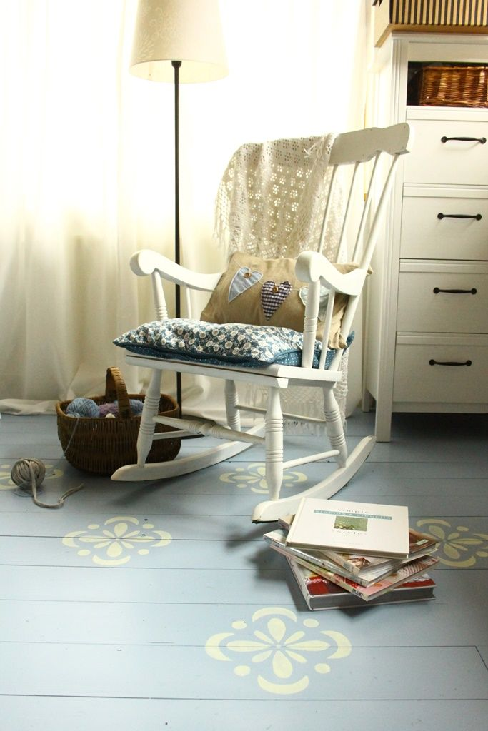 Szürkéskék alapú, nagymintás hajópadló készült : ))  - home decor - haind-painted- wood floor