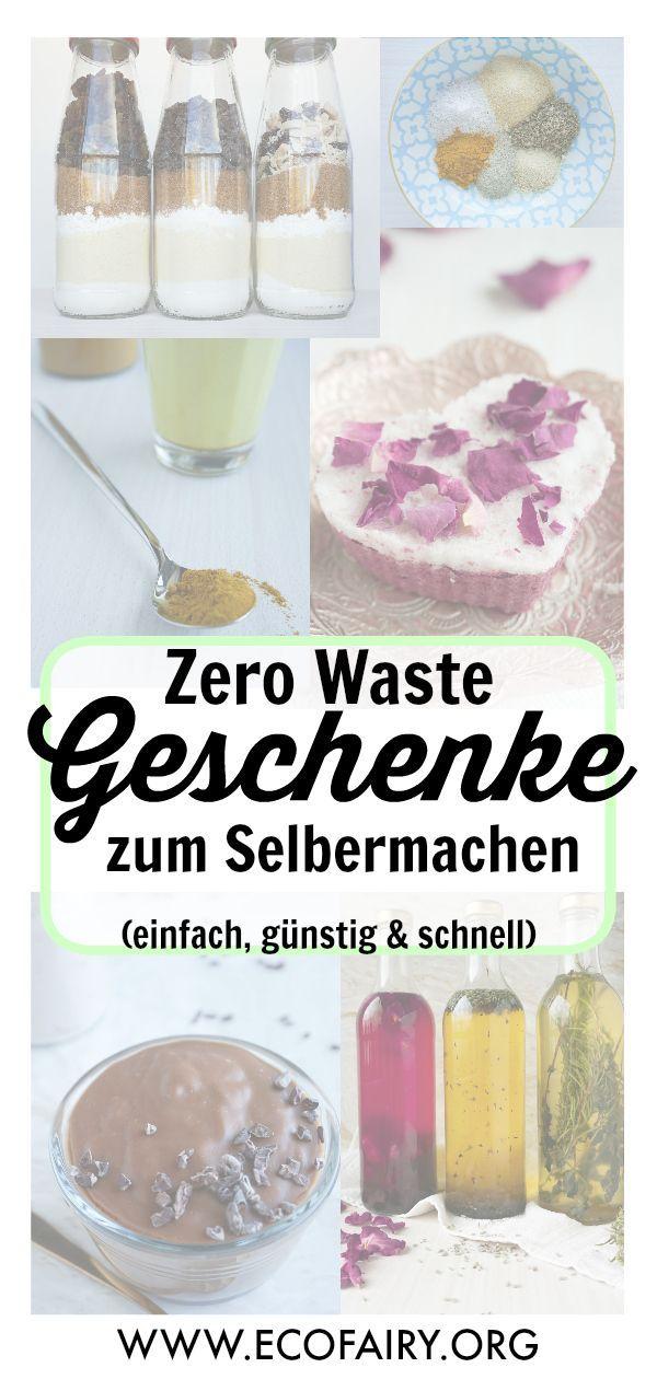 Zero Waste Geschenke zum selbermachen – einfach, günstig & last minute