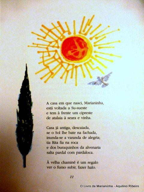 Aquilino Ribeiro, O livro de Marianinha, p.11 il. de Maria Keil
