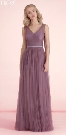 Tulle V-Neck Bridesmaid dress