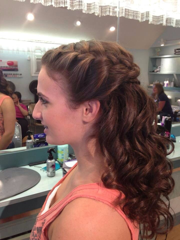 Braid Long Semi Formal Hair Prom Do S Pinterest
