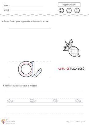 Fiche PDF Écriture cursive Maternelle GS à imprimer ...