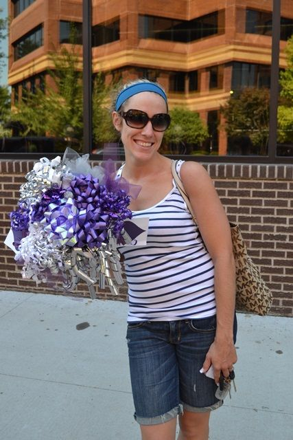 A better rehearsal bouquet from bridal shower bows