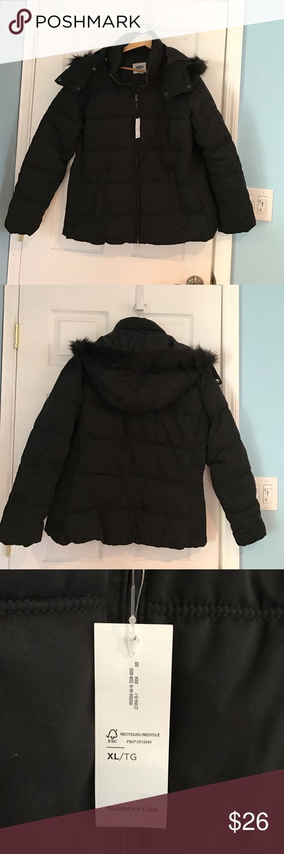 Old Navy NWT frost free hood jacket Old Navy Frost Free Hooded jacket new with tags size XL. Hood is trimmed with black faux fur and is removable. Old Navy Jackets & Coats