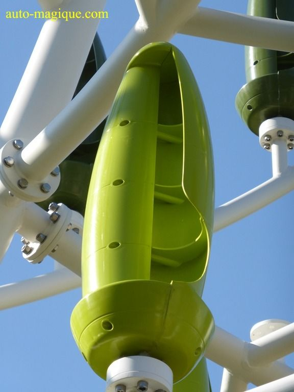 Second prototype de l'Arbre à Vent. Cité des télécoms. Pleumeur-Boudou