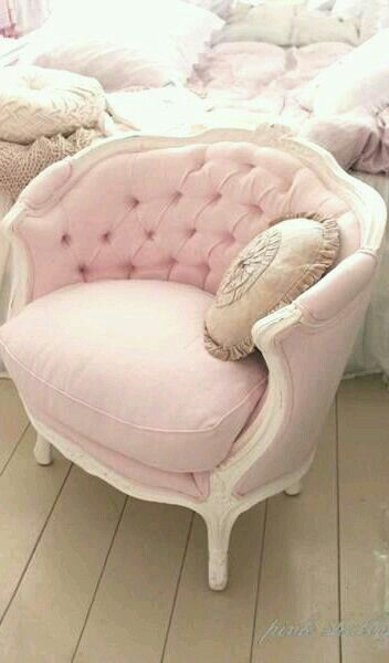 plush pink arm chair