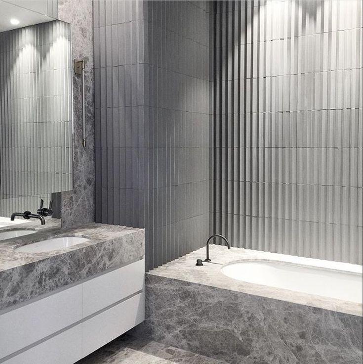 Portsea Grey Limestone adds depth and beauty to this bathroom by @mimdesignstudio  #cdkstone #portseagreylimestone #portseagrey #limestone #naturalstone #naturalbeauty #naturesmasterpiece #bathroominspiration #bathroomdesign #designinspiration