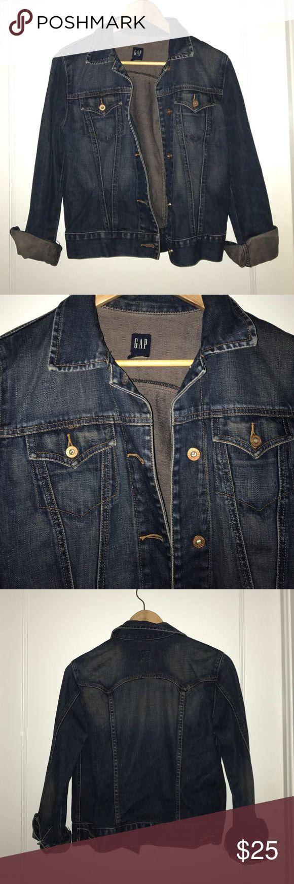 Dark Denim, Jean Jacket Dark Denim Jacket, From Gap. Open to offers GAP Jackets & Coats Jean Jackets