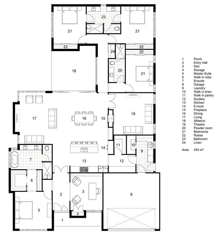 Floor Plan Friday: Classic Hamptons single-storey home