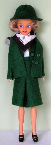 a Transavia airline sterwardess doll i got from my aunt - mijn tante gaf mij een sterwardess barbie van Transavia