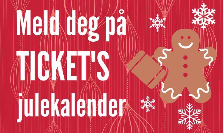 Forhåndspåmelding til Ticket's julekalender!