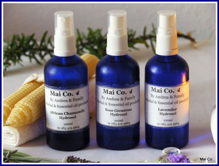 Mai Co's Hydrosol - Lavender, Rose Geranium and African Chamomile. A product of the distillation of the essential oils - it is water based with the same healing properties of the essential oil themselves. Healing, gentle, balancing and fragrant to use on the skin as a toner, or on the hair as a conditioner. Add to the bath, spray on the pillow, or directly onto the skin to lift mood or heal a skin condition.
