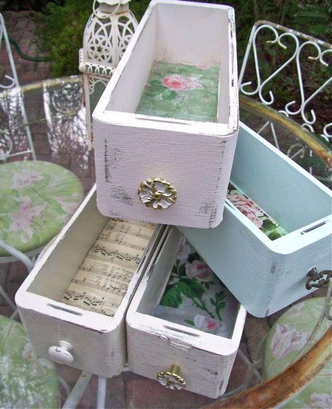 Sewing Drawers ~ useful for storage even without the cabinet they came from