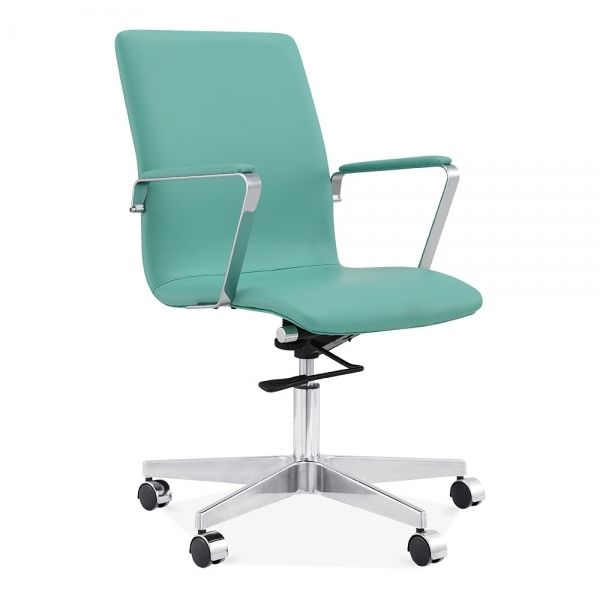 Cult Living Barclay Slim Back Turquoise Office Chair | Cult UK