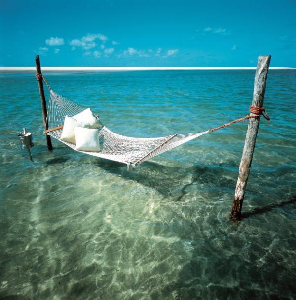 Twitter / TwistedSifter: A hammock in water. One of