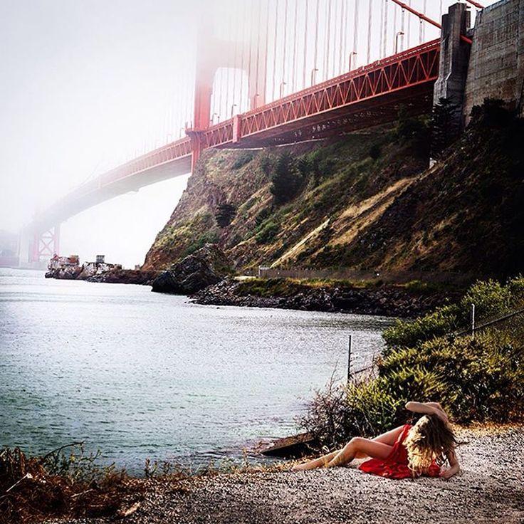 Photo by David Drebin. #red #reds #goldengatebridge #sanfrancisco #sanfranciscobay #bridge #water #westcoast #dress #woman #model #nature #landscape #fog #naturelovers #landscapephotography #photography #photographer #illgrammers #mood #agameoftones #visualsoflife #justgoshoot #photomafia #photography #photooftheday #moodygrams #photographybusiness #severinwendeler #daviddrebin