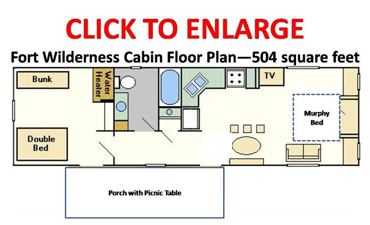 disney s fort wilderness resort cabins floorplan 186 o 186