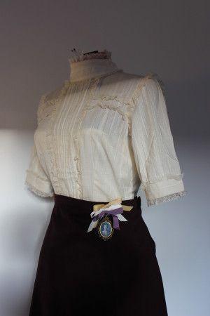 See Through Silk Blouse