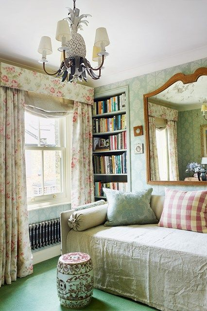 316 best images about bedrooms on pinterest house design for Cottage style curtain ideas