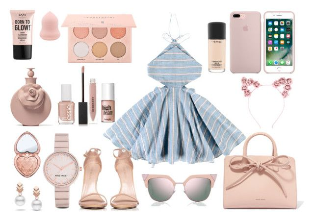 """""""Summer love"""" by tess-302 on Polyvore featuring Tuchinda, Stuart Weitzman, Mansur Gavriel, Fendi, Hot Topic, Nine West, Escalier, NYX, Too Faced Cosmetics and Essie"""
