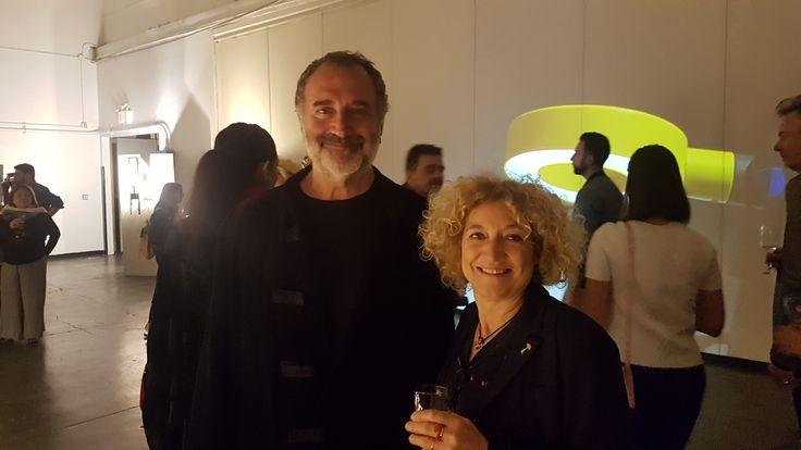 Fabrizio Ferri photographer and founder of #IndustriaSuperstudio with Emiliana Martinelli