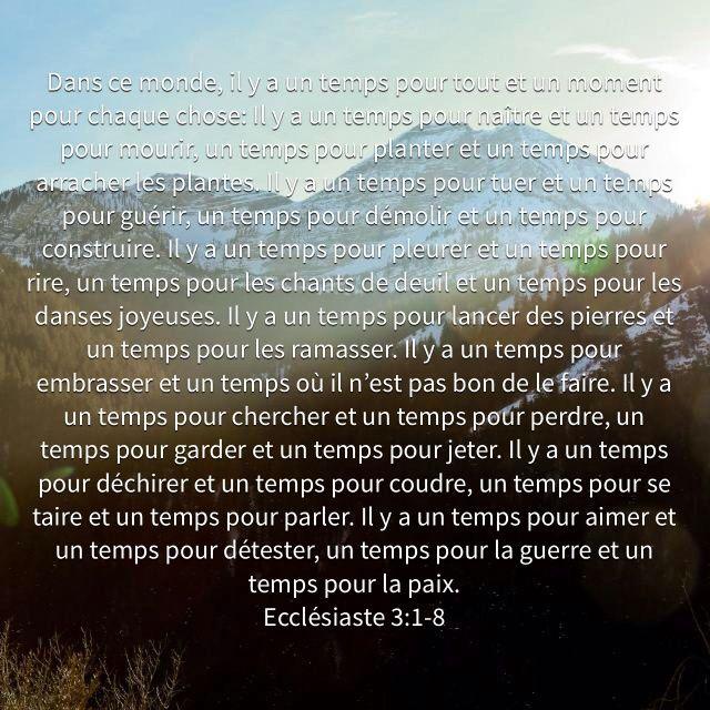 Françoise Longuemard a créé un verset illustré pour <b>Ecclésiaste 3:1-8</b>   Bible.com