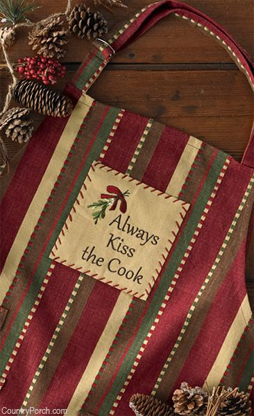 Always Kiss The Cook Apron