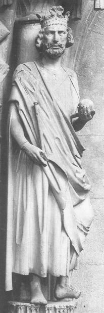 Bamberg (Bayern) - Bamberger Dom. Geboren in Beieren; † 1024 Henricus II was van 1014 tot 1024 keizer van het Heilige Roomse Rijk. Hij werd in 1146 heilig verklaard. Feest 13 (& 15) juli.
