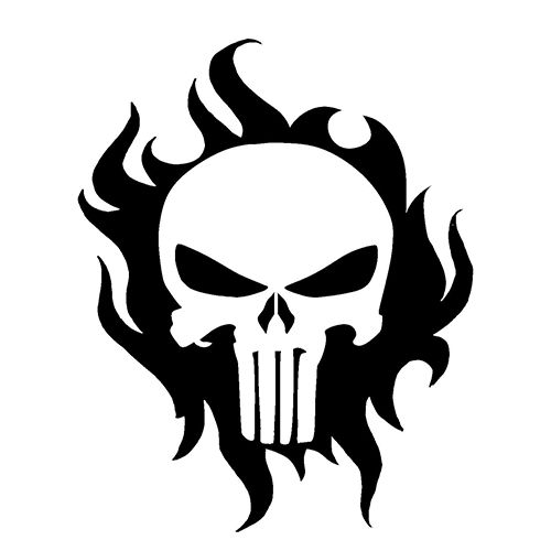Punisher Skull Die Cut Vinyl Decal PV1139
