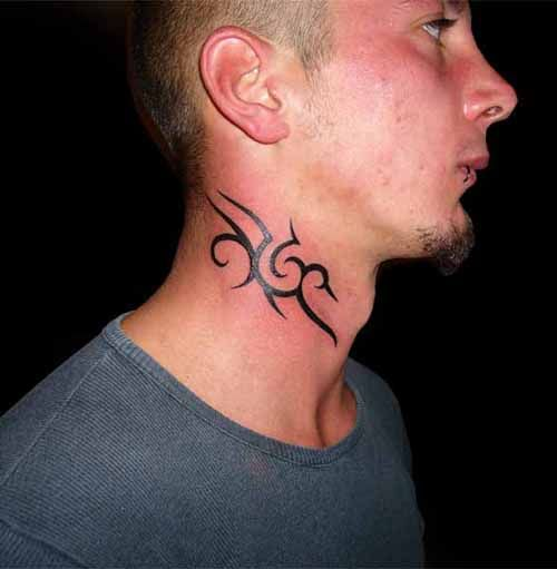 Back Of The Neck Tattoo Ideas And Inspiration: 10 Neck Tattoo Ideas For Men: Small Tribal Neck Tattoo
