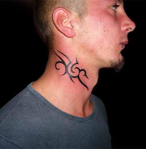 Tattoo Ideas On Neck: 10 Neck Tattoo Ideas For Men: Small Tribal Neck Tattoo