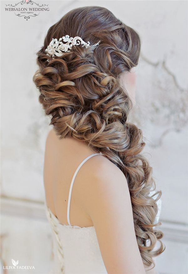 long ombre wavy hairstyle for wedding - Deer Pearl Flowers