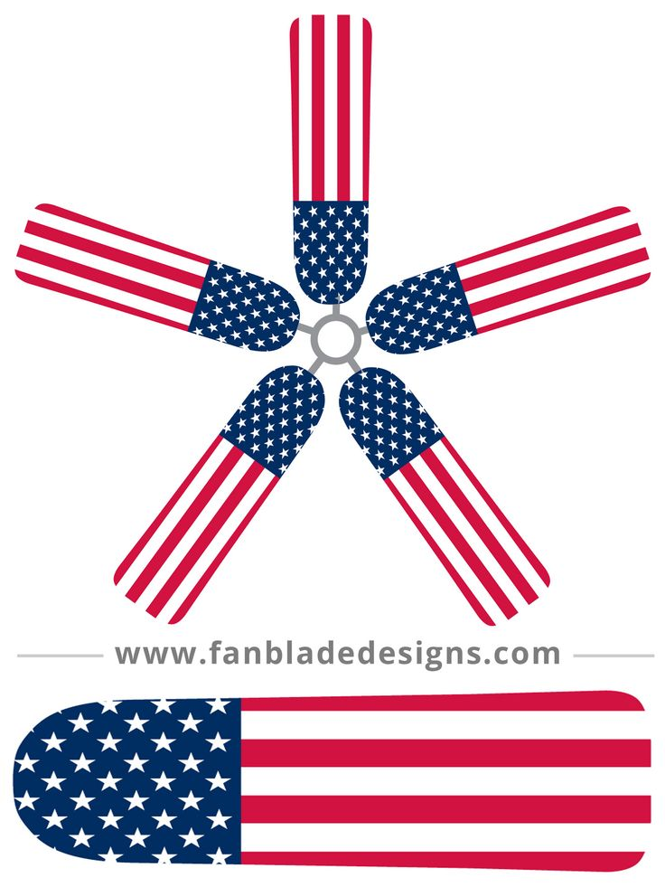 Betsy Ross would be proud to see your ceiling fan wearing the fruits of her labor. Our American Flag fan blade covers are a straightforward salute to our country's heritage, and an easy way to keep yo